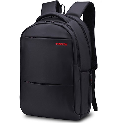 norsens laptop rucksack schwarz 15 6 zoll wasserdichter business computer notebook rucksack mit. Black Bedroom Furniture Sets. Home Design Ideas