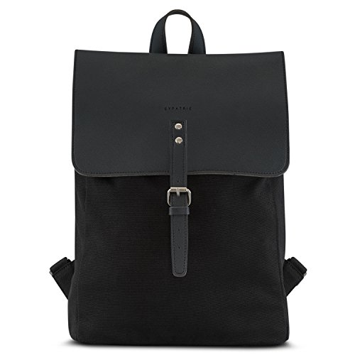 rucksack damen herren schwarz wasserabweisend mit laptopfach hochwertiger tagesrucksack. Black Bedroom Furniture Sets. Home Design Ideas