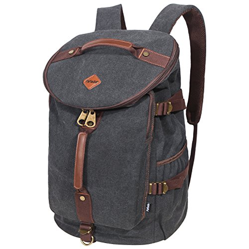 reisetasche rucksack herren damen 28l canvas handgep ck schulrucksack laptoprucksack sporttasche. Black Bedroom Furniture Sets. Home Design Ideas