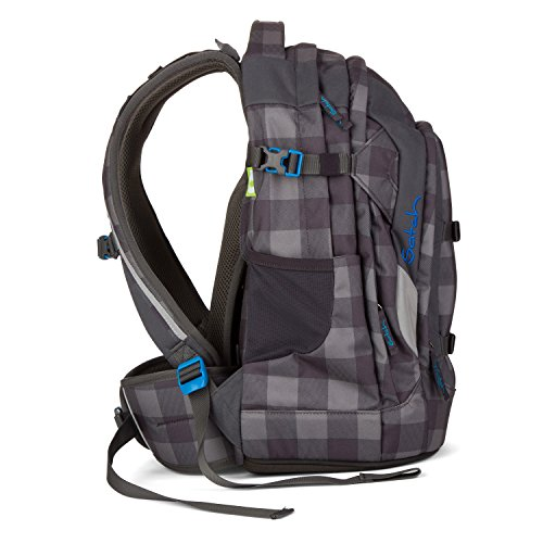 satch checkplaid kinder rucksack checkered grey black. Black Bedroom Furniture Sets. Home Design Ideas