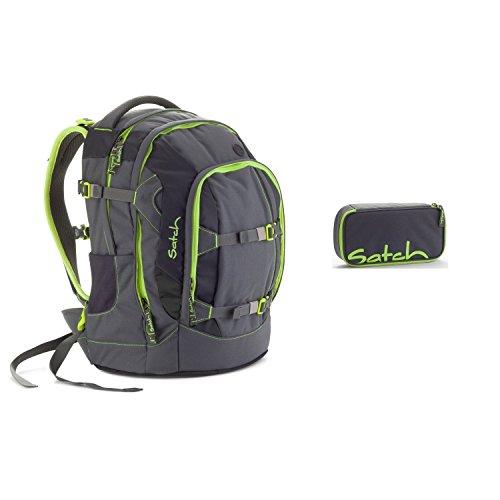 4e5c4a8e3bc04 Satch Schulrucksack-Set 2-tlg Pack Phantom 802 grün-grau – RooDoa