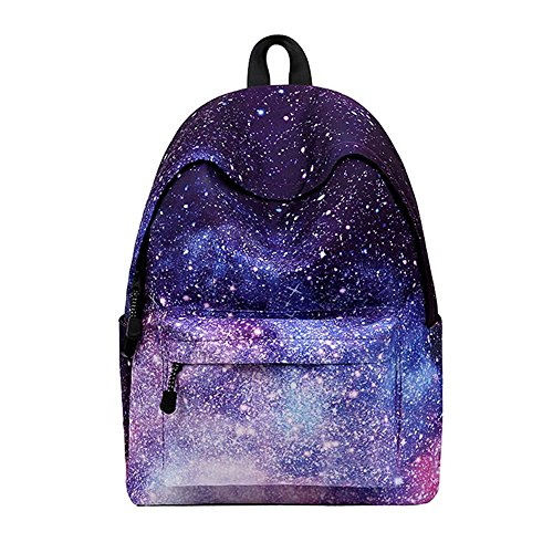 76cb50e15a4c5 WAWJ Schulranzen Beiläufig Schulrucksack Mädchen Teenager Galaxy Print  Damen Backpack Rucksäcke College Schulrucksack Daypacks