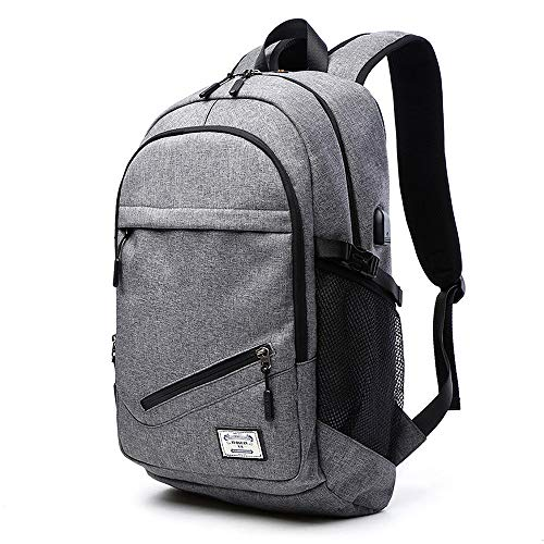 eletecpro rucksack damen herren laptop rucksack mit usb. Black Bedroom Furniture Sets. Home Design Ideas